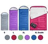 KingCamp Saco de Dormir Oasis 3 y 4 Season 4 tamaños Disponibles (Doble para niños, Adultos, Extra Grandes y Extra Grandes) en 6 Colores para Acampar y para Exteriores