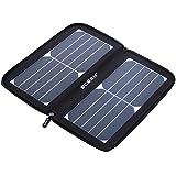 ECEEN Panel Solar, Cargador solar 10W con cremallera único diseño de paquete para iPhone, iPad, iPod, Samsung, Smartphones Android y más