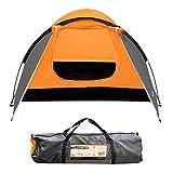 Milestone Camping Tienda súper iglú para Dos Personas Naranja