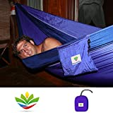 Hamaca Bliss XXL-Hamaca portátil 100'Cuerda por Lado Incluido-Ideal para Camping, Backpacking, Kayak y Viajes