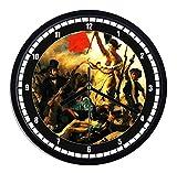 Reloj de pared de plástico Delacroix–La liberta 'Guía il Popolo