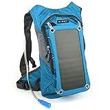 Carga solar del panel solar de la mochila 7W para los teléfonos celulares y la fuente de alimentación del dispositivo 5V - SG_B00NFD3D8A_US, Aikido, S, Biker Pack Azul Sin Batería