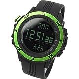 [Lad Weather] Sensor alemn Vaso Digital Previsin del Tiempo Altmetro Barmetro Crongrafo Alarma Outdoor (Alpinismo/a pies/Campo) Sport Hombre Reloj de Pulsera