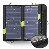 X-DRAGON alto consumo SunPower Cargador de panel solar con isolar tecnología para iPhone, iPad, iPod, Samsung, Smartphones Android y Más (iSolar tecnología, plegable, portátil)