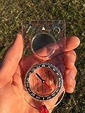 Brújula de Orientación (la Herramienta Básica para Supervivencia y Navegación durante Acampada, Senderismo, Excursionismo) - Aguja Magnética, con Líquido, Cojinete Azimut, con Graduaciones por Mapa