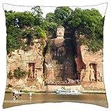 Leshan giant Budha, China siete al mundo mágico - Funda de cojín (18