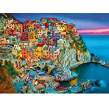Magicfun Puzzle de 1000 Piezas para Adultos- Cinque Terre, Obra de Arte de Juego de Rompecabezas para Adultos, Adolescentes, Rompecabezas de Piso de Impresión de Alta Definición Multicolor (70x50cm)