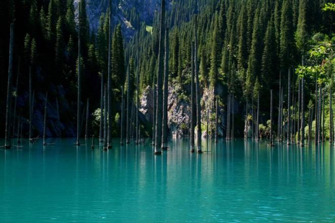 Lago Kaindy – Bosque sumergido
