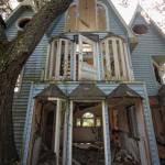 Casa del árbol abandonada en Florida