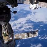 Vista de la ISS con la Tierra de fondo