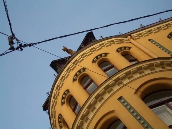 Casa de los Gatos en Riga: Una pelea felina