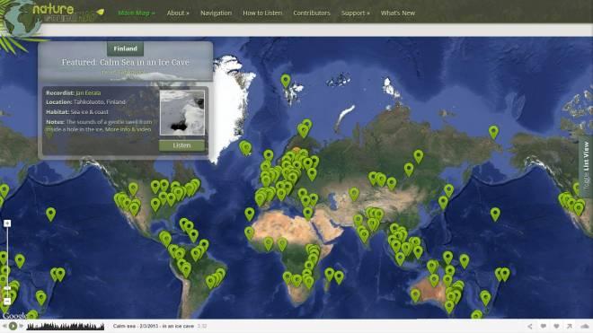 Nature SoundMap: Geolocalización de Sonidos de la naturaleza