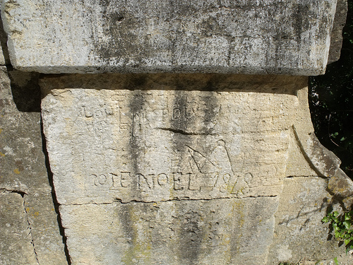 Pont du Gard - 18th century graffiti