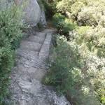 Pont du Gard - steps down