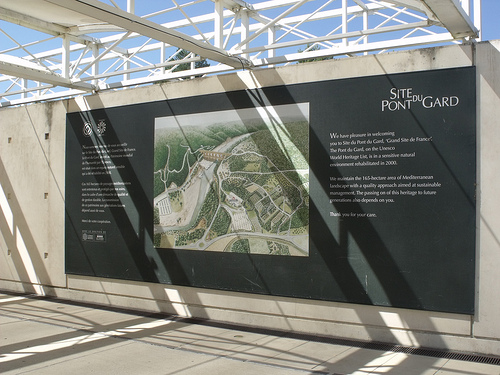Site du Pont du Gard - map and World Heritage Site