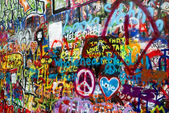 El Muro de Lennon en Praga