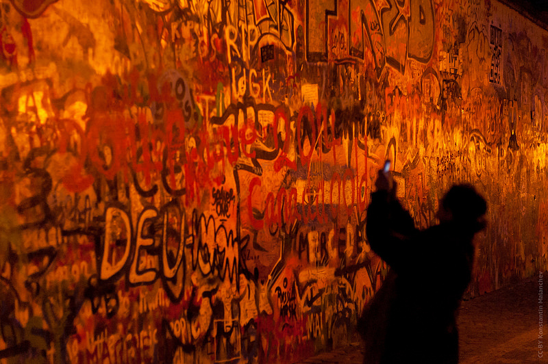 Muro de Lennon: el muro protesta de Praga