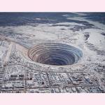 Mir mine a massive, now abandoned open pit diamond mine in Mirny, Eastern Siberia, Russia