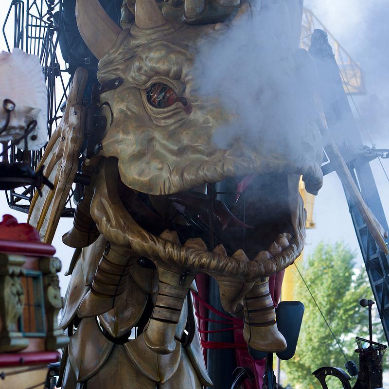 Dragón Echando Humo - Las Máquinas de la Isla de Nantes