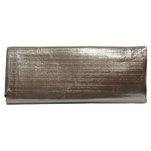 10T Isoma 120 – Esterilla aislante para 2 personas (200 x 120 x 0,7 cm), color plateado