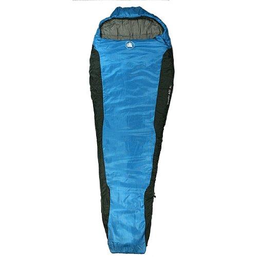 10T Outdoor Equipment Schlafsack Innoko - Saco de dormir momia para acampada, color azul, talla 230 x 85 cm 1