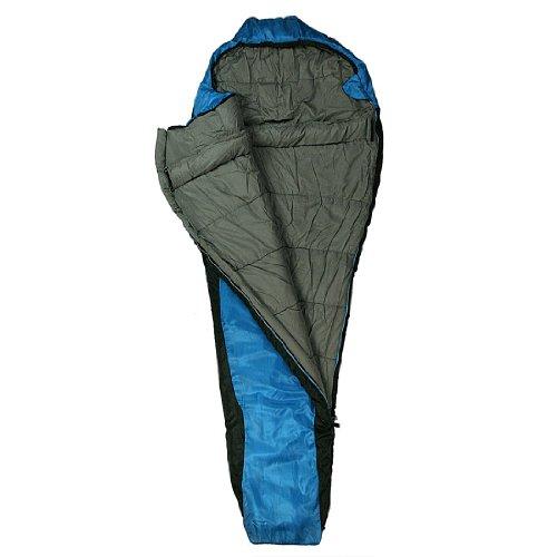 10T Outdoor Equipment Schlafsack Innoko - Saco de dormir momia para acampada, color azul, talla 230 x 85 cm 2
