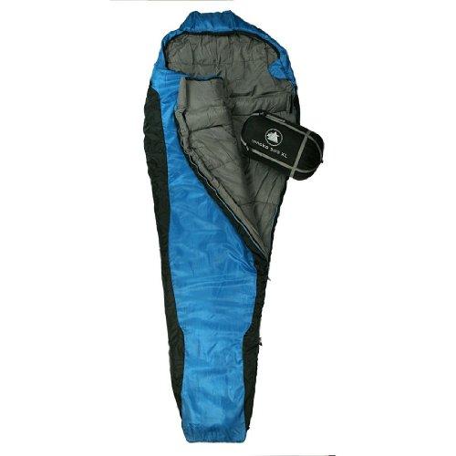 10T Outdoor Equipment Schlafsack Innoko – Saco de dormir momia para acampada, color azul, talla 230 x 85 cm