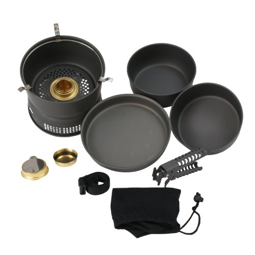 10T Scout Set of Pots 7-Piece Grey by 10T Outdoor Equipment