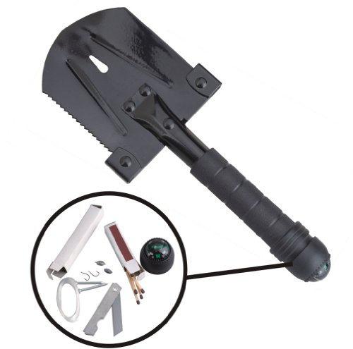 AceCamp 2586 Survivor Multi-Tool Shovel, Black 6
