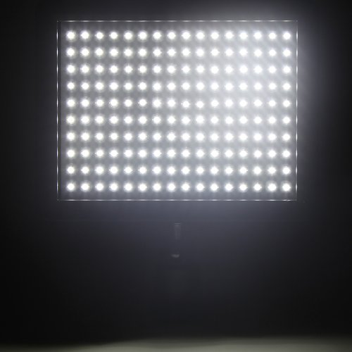 Andoer 160 LED de la lámpara del panel 12W 1280lm Dimmable para Canon Nikon Pentax DSLR Cámara de vídeo Videocámara 1
