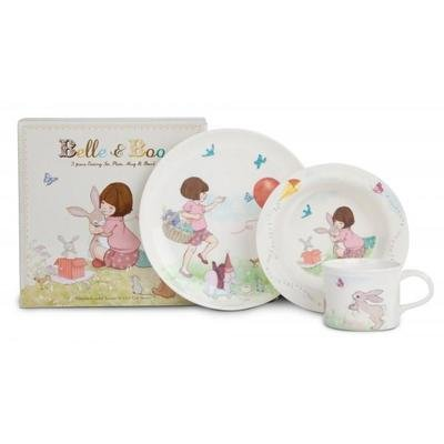 Belle & Boo CHILDRENS 3 PIECE FEEDING SET, Melamine, Various , , Set of1 by Belle & Boo 1