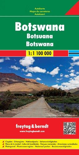 Botswana Road Map 1:1.1M FB (English, Spanish, French, Italian and German Edition) 1