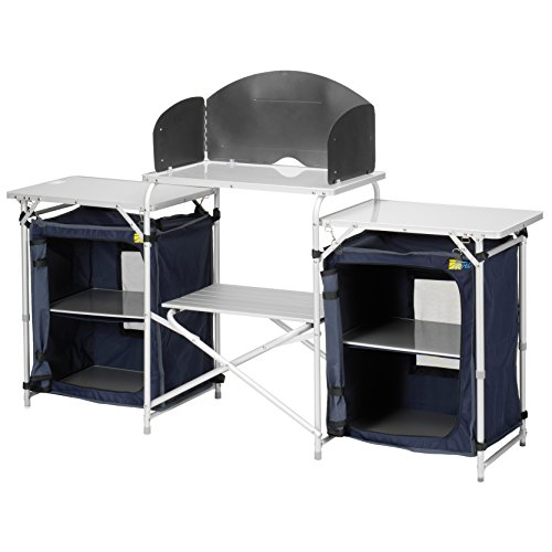 CAMPART Travel KI-0732 - Cocina de camping, color azul 4