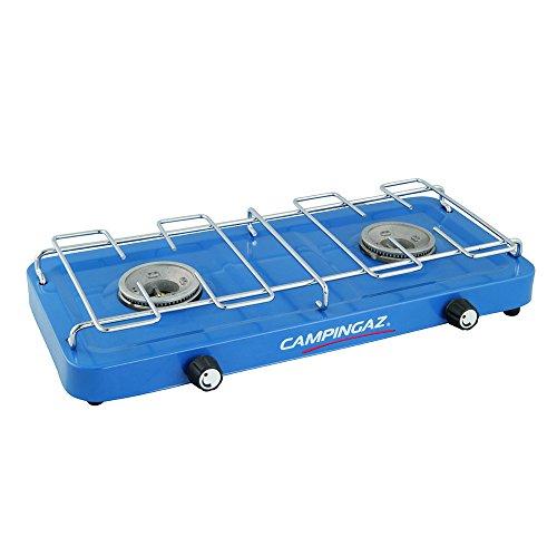 Campingaz - Hornillo para acampada con 2 fuegos, color azul 5
