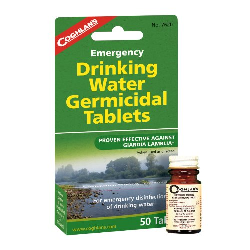 Coghlans Drinking Water Tablets - Purificador de agua, color blanco 4
