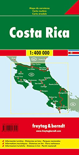 Costa Rica Road Map FB 1:400K (English, Spanish, French, Italian and German Edition) 1