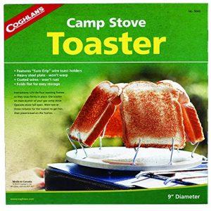 Coughlan's Camp Stove Toaster – Hornillo portátil para acampada, color plateado