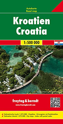 Croatia 1:500,000 (English, Spanish, French, Italian and German Edition) 1