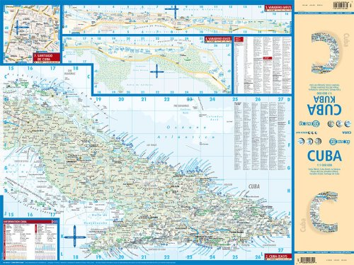 Laminated Cuba Map by Borch (English Edition) 2