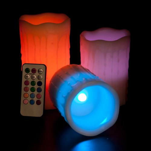 Frostfire Mooncandles - Vanilla Scented Dripping Wax Color Changing Candles with Remote Control, 4-inch/ 5-inch/ 6-inch 2