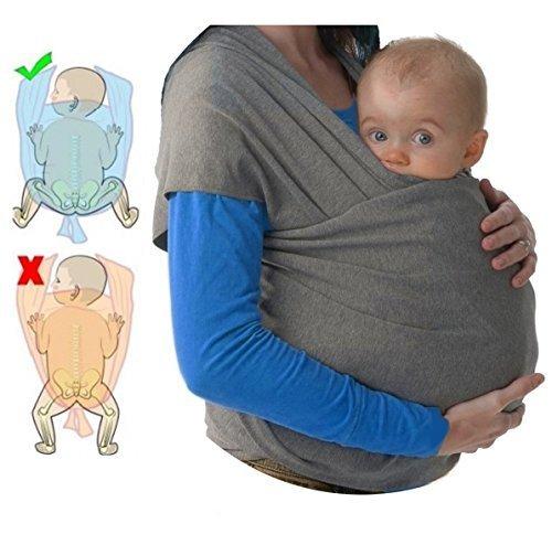 Fular portabebés elastico para llevar al bebé ✮ fulares para hombre y mujer ✮ tonga pañuelo portabebe ajustable ✮ Lleve a su bebe cerca de su corazón 7