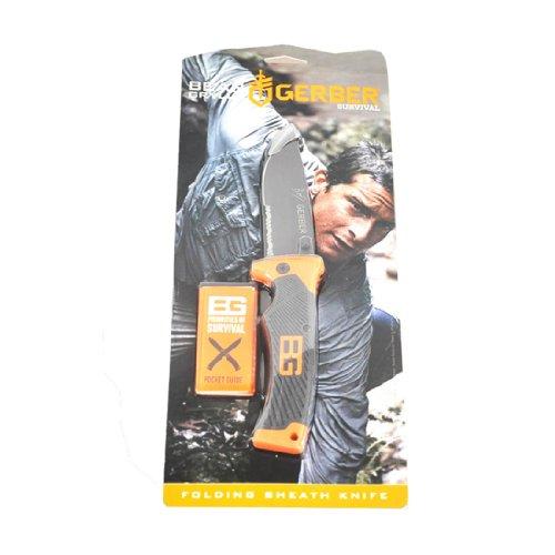 Gerber Bear Grylls Folding Sheath Knife, Serrated Edge [31-000752] 3