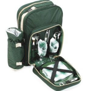 Greenfield Collection BP2DGH – Mochila de picnic para dos personas, color verde bosque