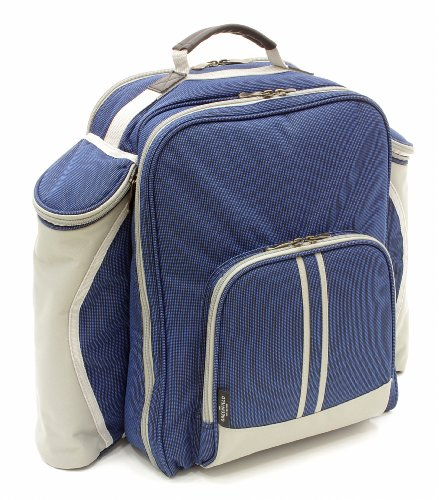 Greenfield Collection Super Deluxe - Mochila de picnic para dos personas, color azul marino 1