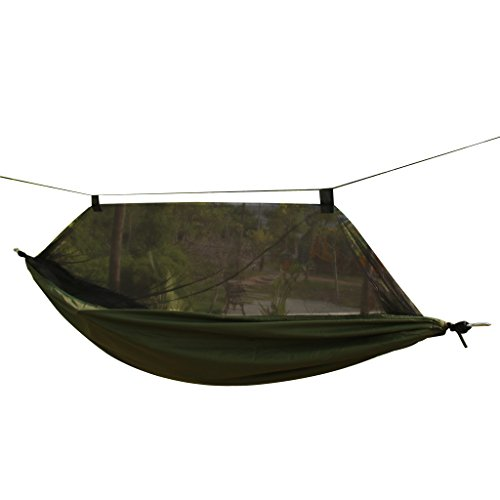 Travel Outdoor Camping Tent Hanging Hammock Sleeping Bed w/ Sack 6