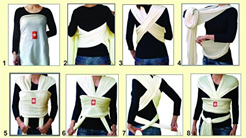 Hana Baby Wrap estándar bambú tejido elástico portabebés (Varios Colores)