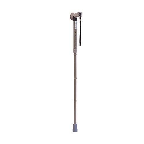 HealthSmart 502-1313-0030 - Bastón plegable con empuñadura cómoda, color gris 1