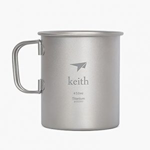 Keith Titanium Mug Outdoor Cup Camping Cup Only 62g 10