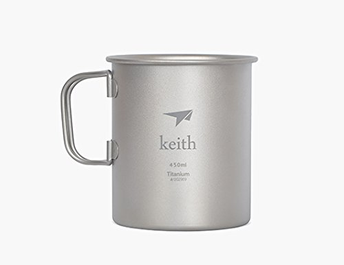 Keith Titanium Mug Outdoor Cup Camping Cup Only 62g 12