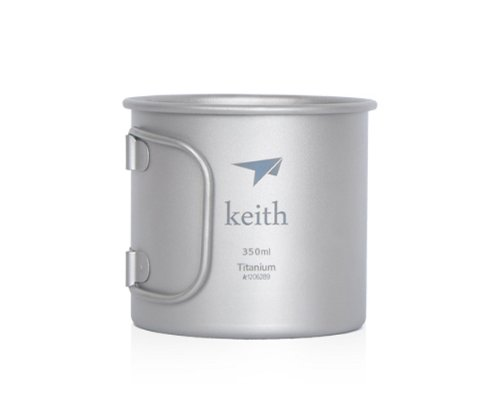 Keith 350ml Titanium Cup Camping Mug Outdoor Cup Only 56g 2